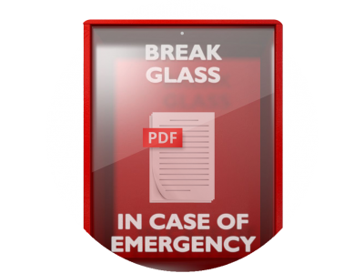 Break Glass In Case of Emergency eBook